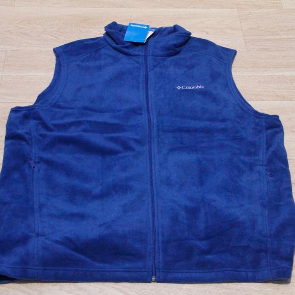Columbia Other - Columbia Men's Sleeveless Vest 3XL Blue Zip up